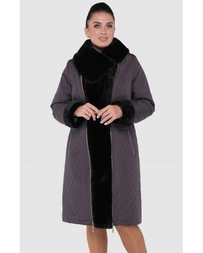 Зимнее женское пальто-пуховик. Модель 004
