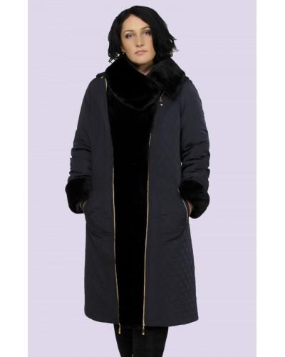 Зимове жіноче пальто пуховик. Модель 004