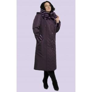 Зимнее женское длинное пальто. Модель 006