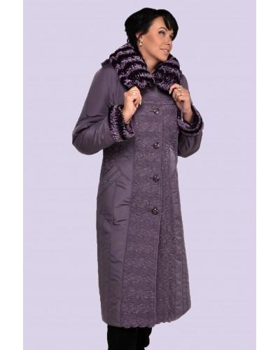 Зимнее женское длинное пальто-пуховик. Модель 010. опт
