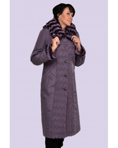 Зимове жіноче довге пальто-пуховик. Модель 010. опт