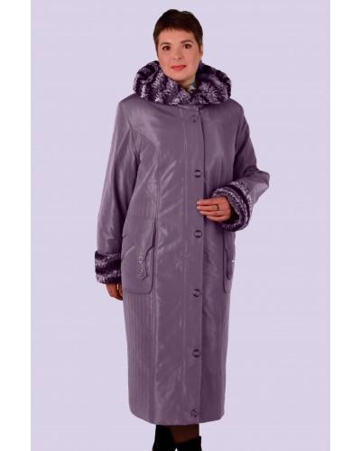 Зимнее женское длинное пальто-пуховик Модель 012