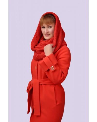 Зимнее женское кашемировое пальто. Модель 021 А