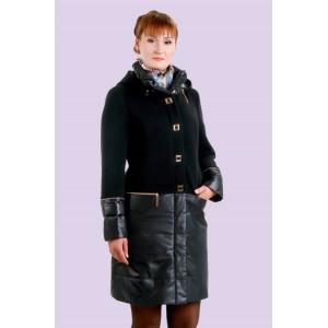 Пальто жіноче демісезонне комбіноване. Модель 023. опт
