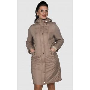 Куртка плащ женская длинная демисезонная. Модель 033