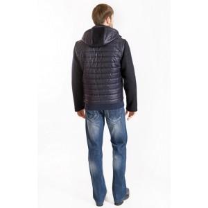 Куртка чоловіча демісезонна комбінована. Модель 050
