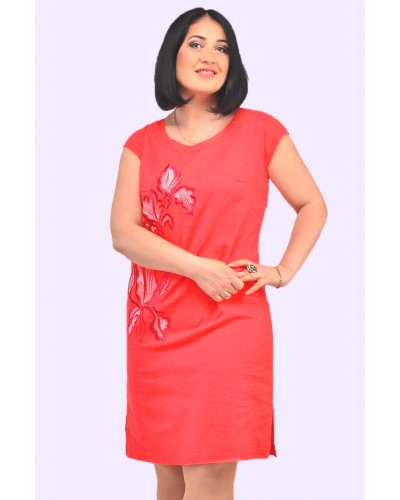 Жіночий лляний сарафан. Модель 055