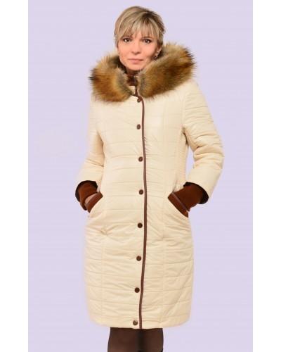 Пуховик жіночий зимовий з хутром. Модель 066