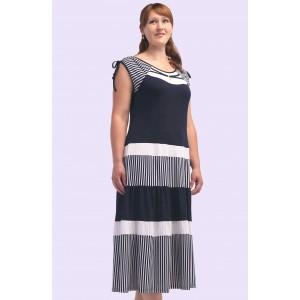 Жіноче трикотажне плаття в смужку. Модель 107