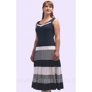 Женское трикотажное платье в полоску. Модель 108
