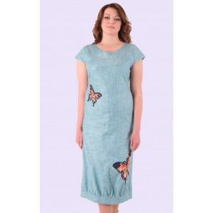 Женский льняной сарафан. Модель 135