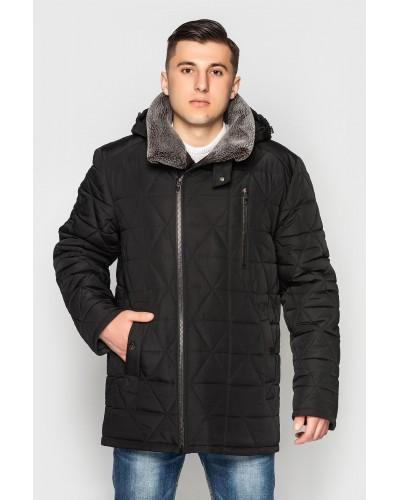 Куртка мужская зимняя с меховым воротником. Модель 179