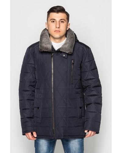 Куртка чоловіча зимова з хутряним коміром. Модель 179
