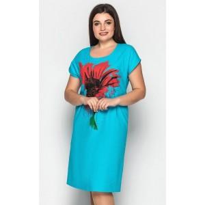 Женское летнее льняное платье. Модель 206