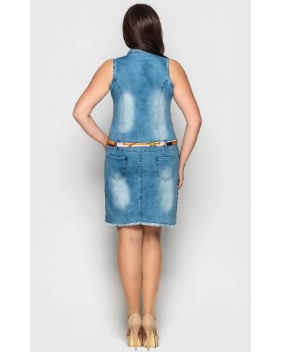 Жіночий джинсовий сарафан. Модель 208. опт