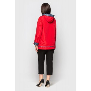 Куртка ветровка женская красная. Модель 210