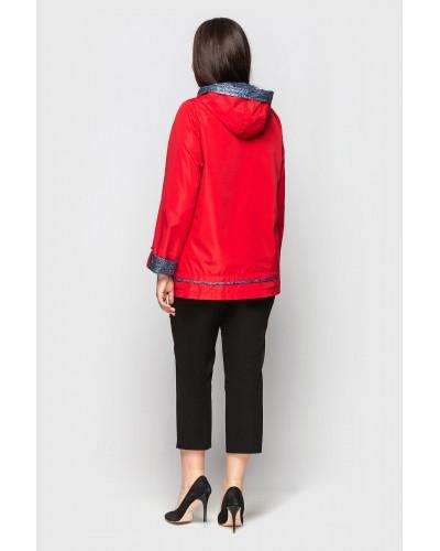 Куртка вітрівка жіноча червона. Модель 210