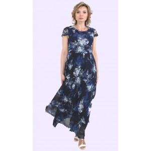 Жіноче літнє довге шифонове плаття. Модель 222