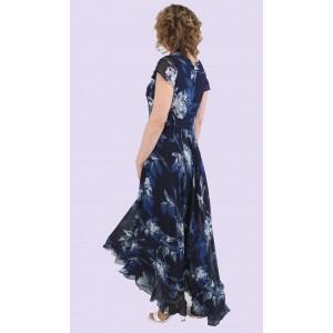 Женское летнее длинное шифоновое платье. Модель 222