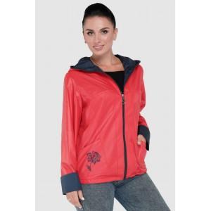 Куртка ветровка женская красная. Модель 230