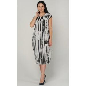 Женское длинное летнее платье в полоску. Модель 241