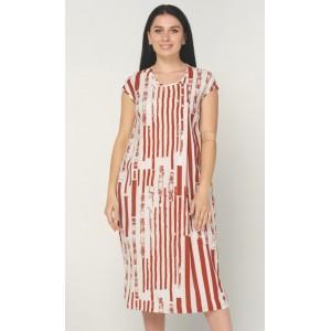 Жіноче літнє плаття в смужку. Модель 241