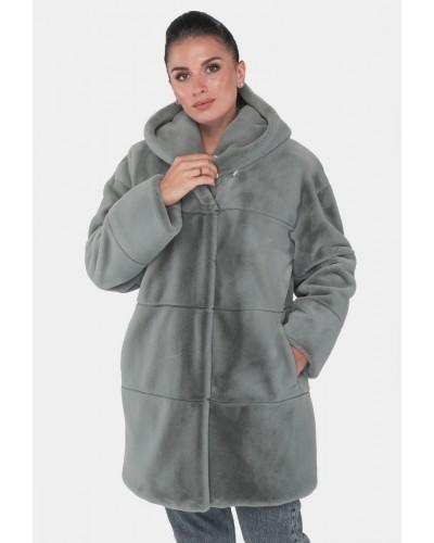 Шуба жіноча зимова на кнопках, середньої довжини. Модель 243. опт