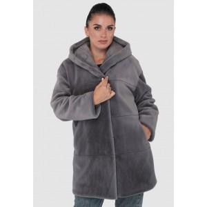 Шуба женская зимняя на кнопках, средней длинны. Модель 243