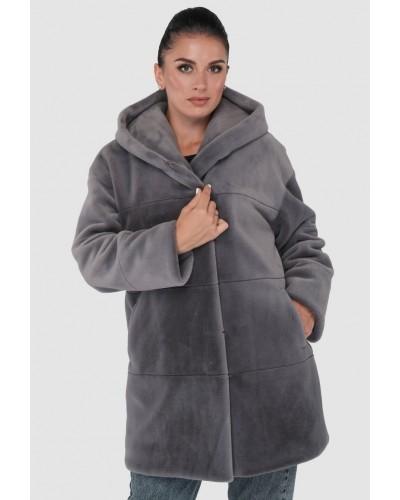 Шуба жіноча зимова на кнопках, утеплена, середньої довжини. Модель 246. опт