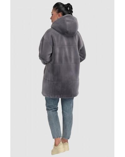 Шуба жіноча зимова на кнопках, середньої довжини. Модель 243