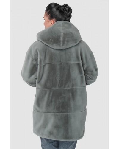 Шуба женская зимняя на молнии, средней длинны. Модель 244