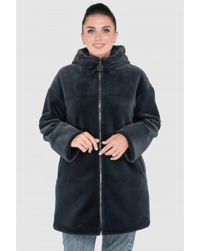 Шуба жіноча зимова на блискавці, середньої довжини. Модель 244. опт