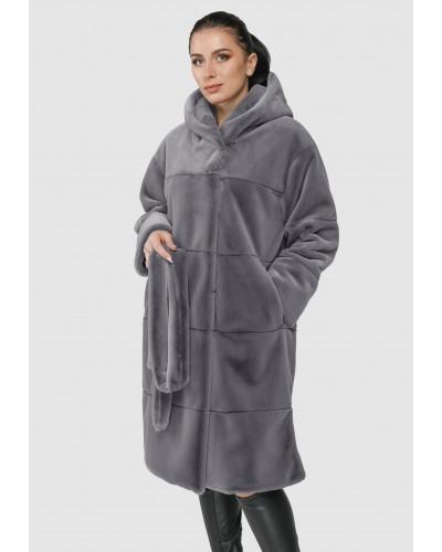 Шуба жіноча зимова на кнопках, довга. Модель 249 опт