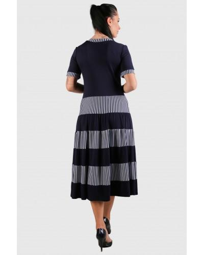 Жіноче трикотажне плаття в смужку. Модель 262