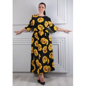 Женское платье подсолнух. Модель 264