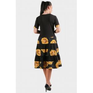 Женское платье подсолнух. Модель 266