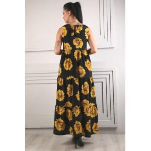 Женское платье подсолнух. Модель 267