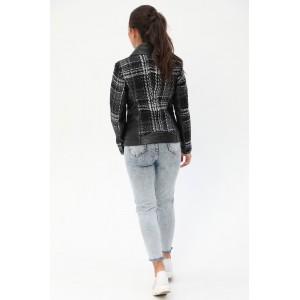 Комбінована жіноча коротка куртка. Модель 275.