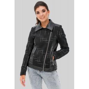 Комбінована жіноча коротка куртка. Модель 278.