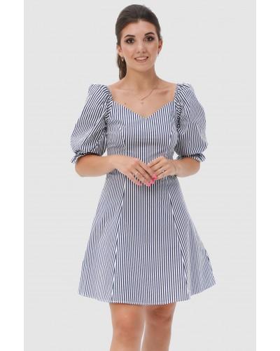 Женское платье с хб полотна. Модель 280