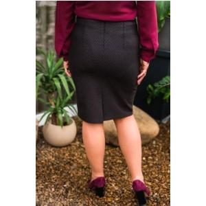 Женская трикотажная юбка. Модель 301