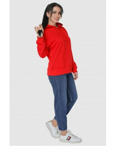 Худі жіноче червоне. Модель 310.